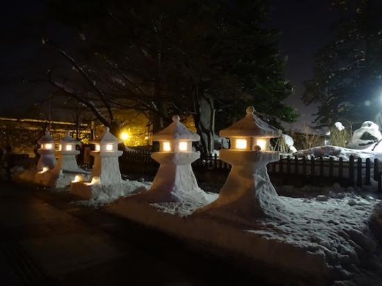 2018-2-9 上杉雪灯篭まつりプレ点灯:2018/02/10 10:02