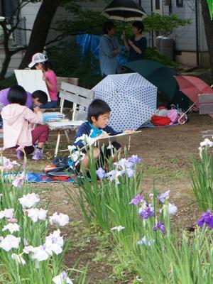 2014/06/23 20:30/【雨の中のあやめ写生大会】