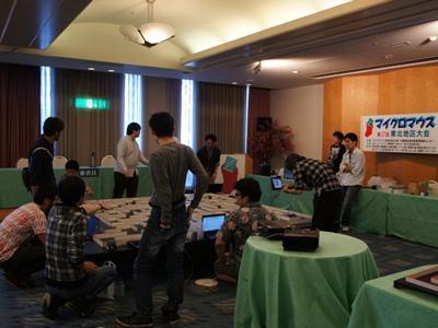 2014/10/11 14:58/【明日のマイクロマウス東北地区大会に向けて試走会開催!】