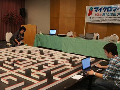 2015/10/10 17:14/【明日のマイクロマウス東北地区大会に向けて、試走会開催!】