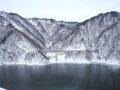 2018/01/10 10:38/【冬の長井ダム】